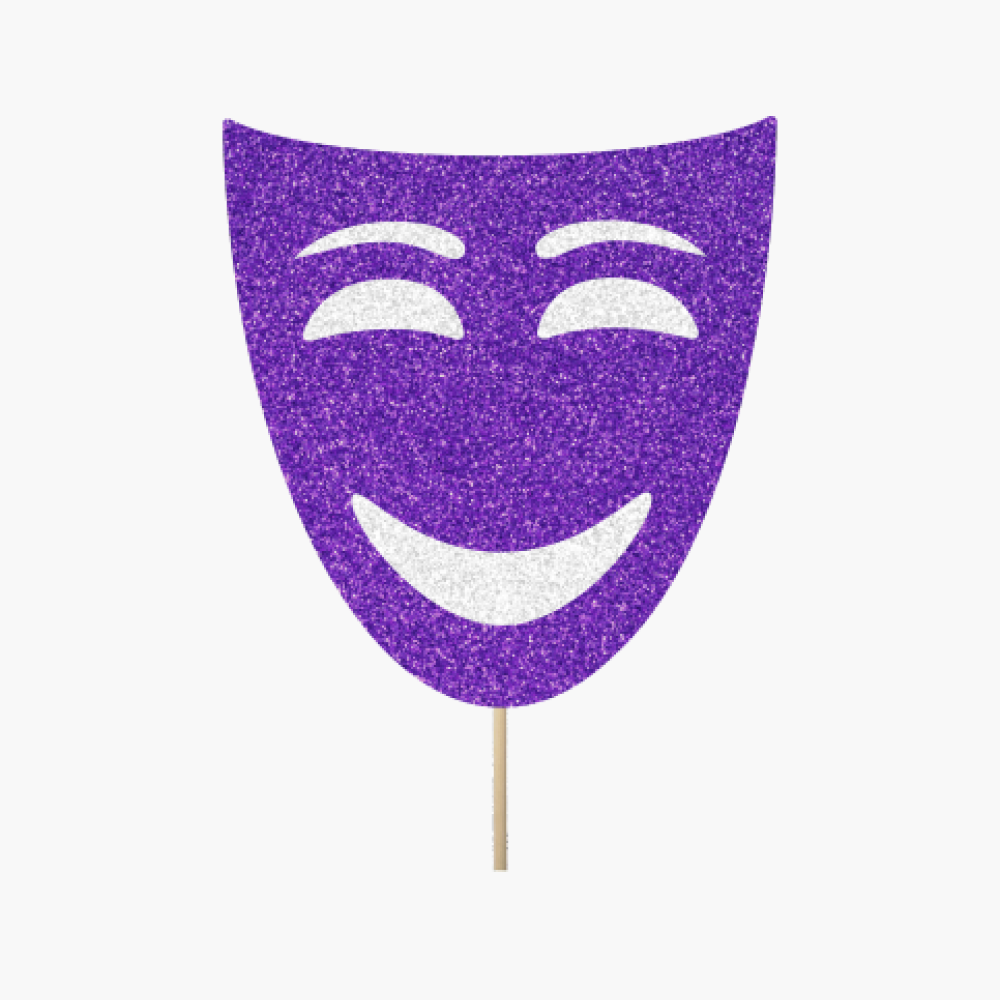Purple Theather Mask Happy