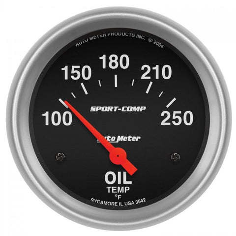 "2-5/8"" OIL TEMPERATURE, 100-250 °F, AIR-CORE, SPORT-COMP"