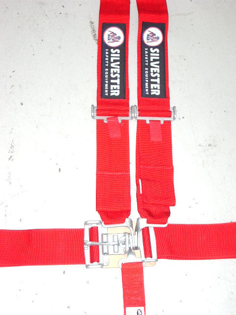 Silvester Lever Latch 5 Point Harness Red