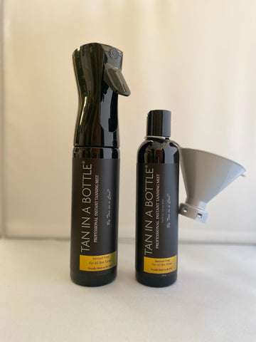 Tan in a bottle  plus Refill Combo with Funnel