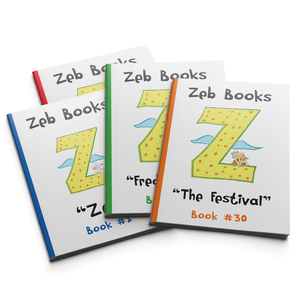 """Just the Books"" Zeb Books Series 1-4"