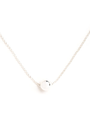 CAT LUCK Small Silver Orb Necklace