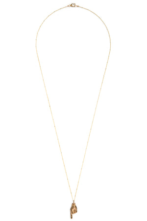 "CAT LUCK ""To the Point"" Necklace // Bronze"