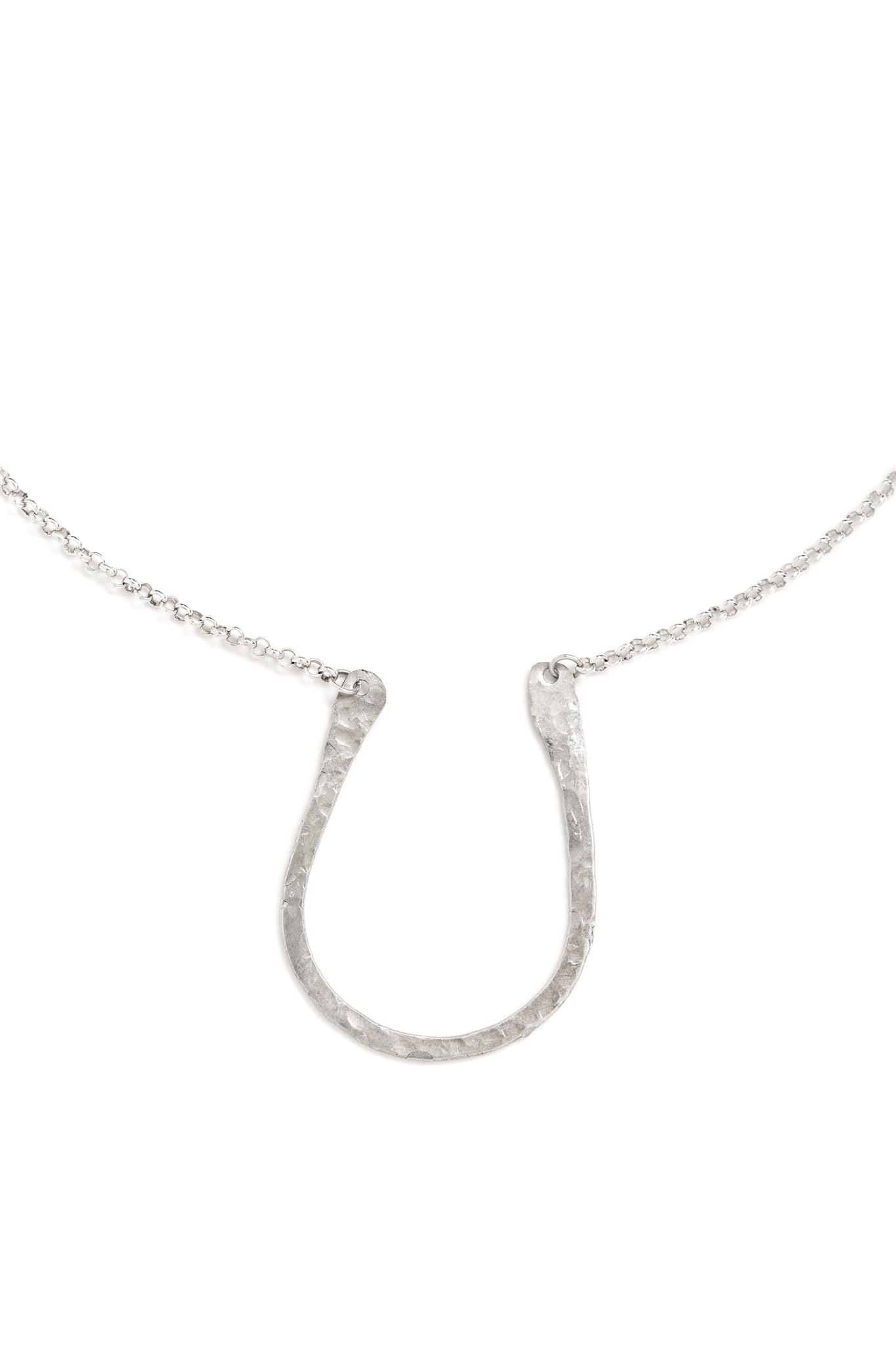 "CAT LUCK Silver ""U"" Necklace"