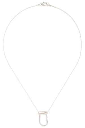 "CAT LUCK Pinched ""U"" Slider Necklace"
