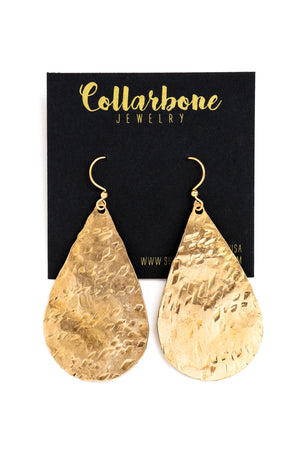 Large Solid Teardrop Earrings