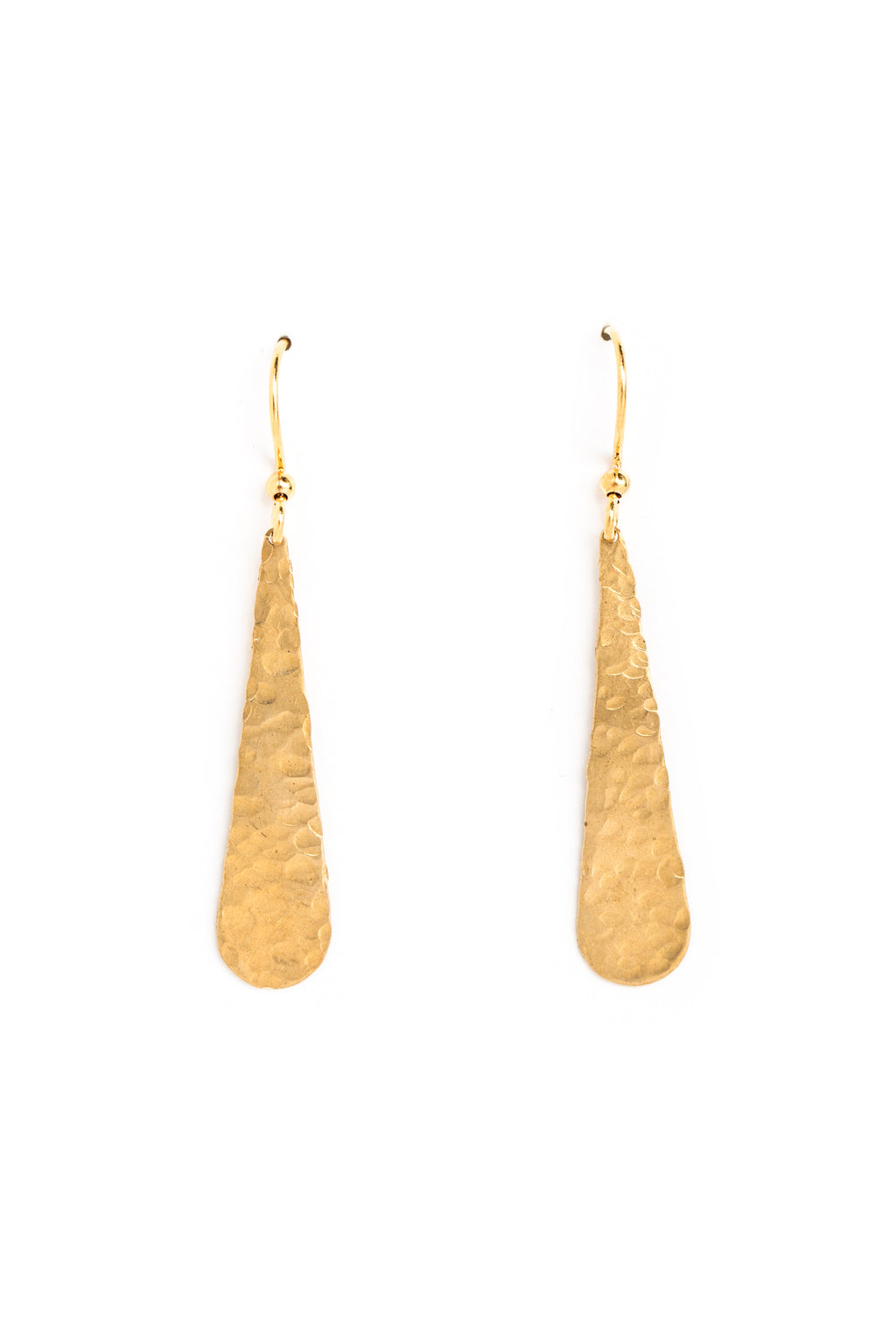 Small Hammered Drop Earrings