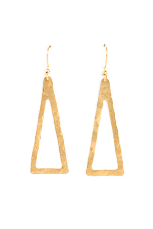 Large Open Triangle Earrings