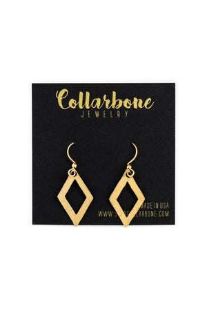 Open Diamond Earrings