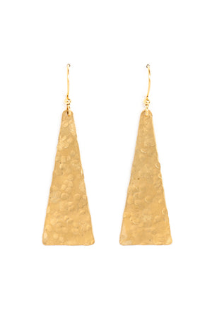 Large Solid Triangle Earrings
