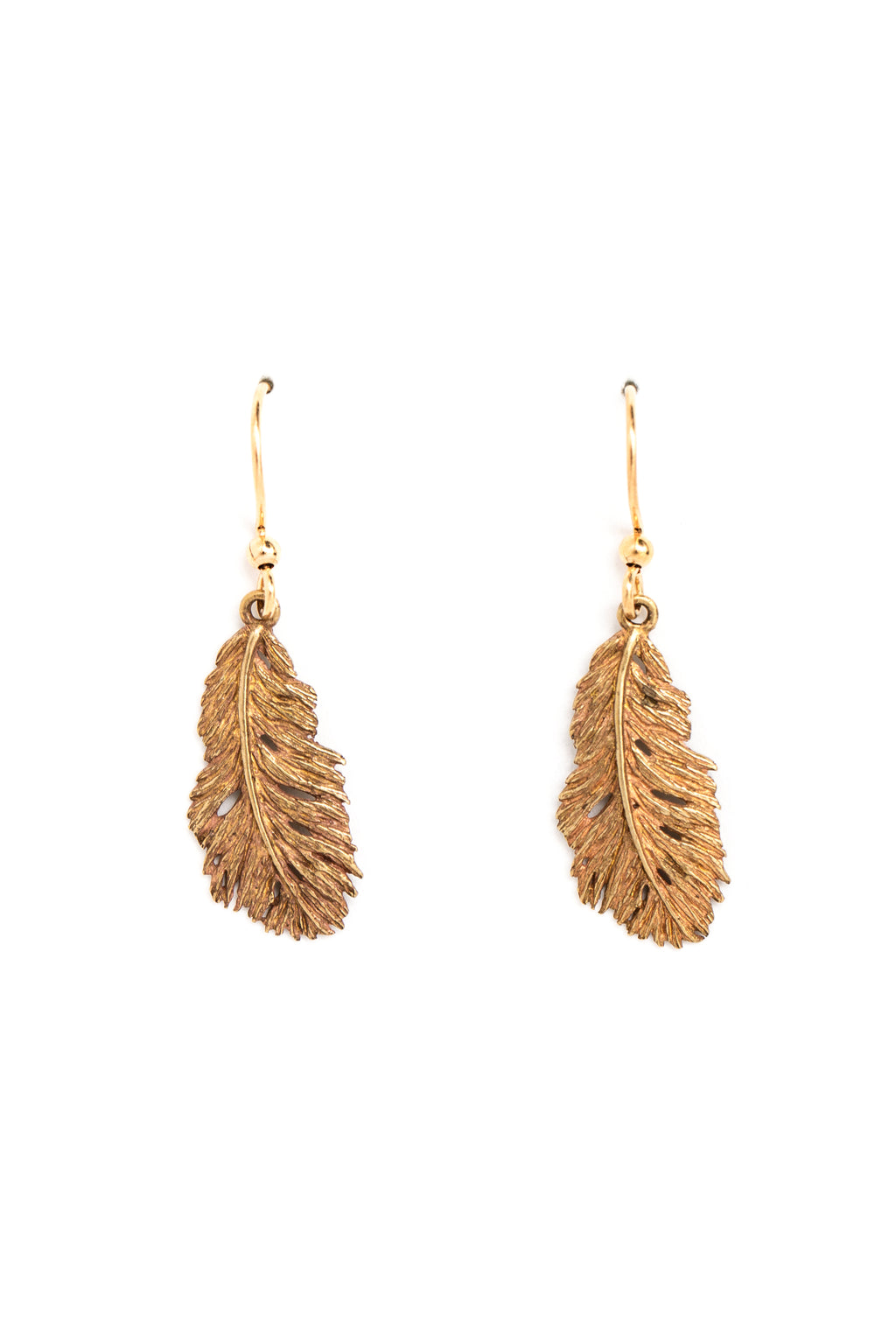 Wispy Feather Earrings