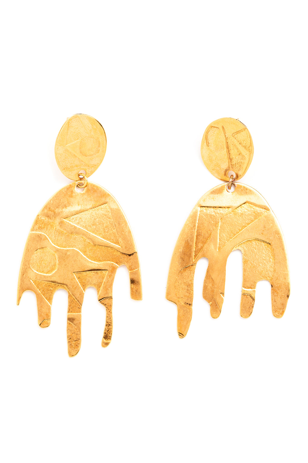 CAT LUCK Movement + Texture Statement Earrings