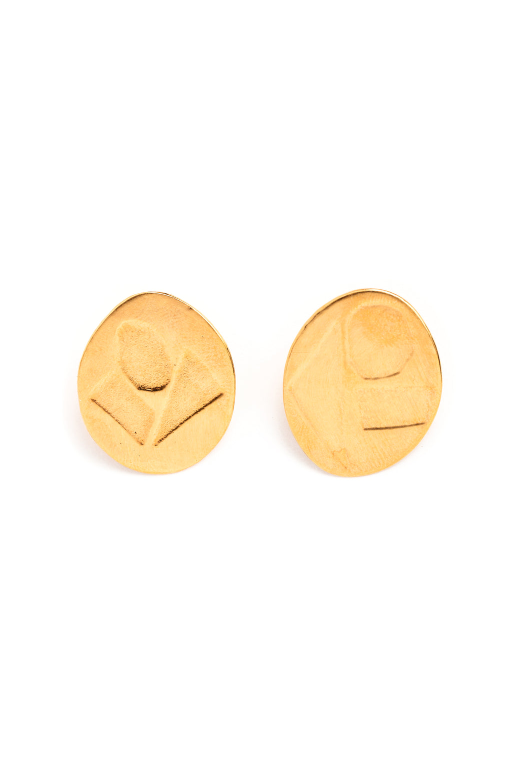 CAT LUCK Geometric O Studs