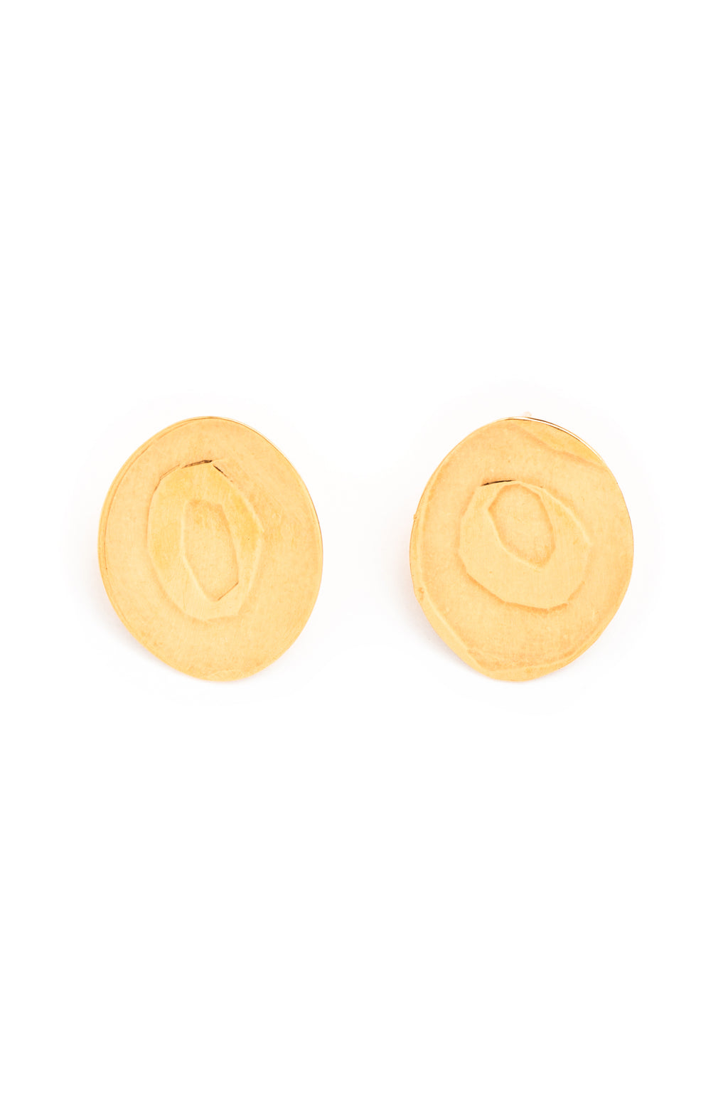 Gold Ooh Stud Earrings