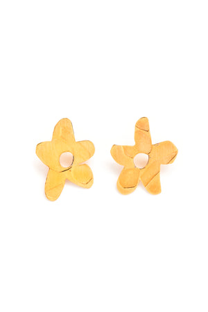 CAT LUCK Golden Daisy Studs