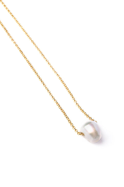 Freshwater Pearl on Gold Chain