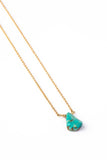 Turquoise Drop on Gold Chain