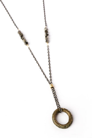 African Ring//Pyrite Necklace