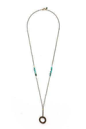 African Ring//Turquoise Nugget Necklace