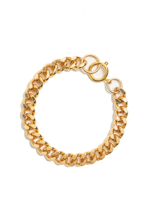 Gold Plated Curb Chain Bracelet