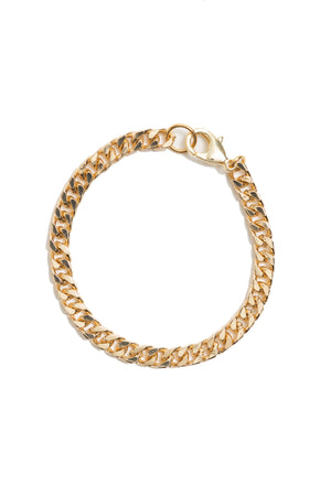 Skinny Gold Curb Chain Bracelet