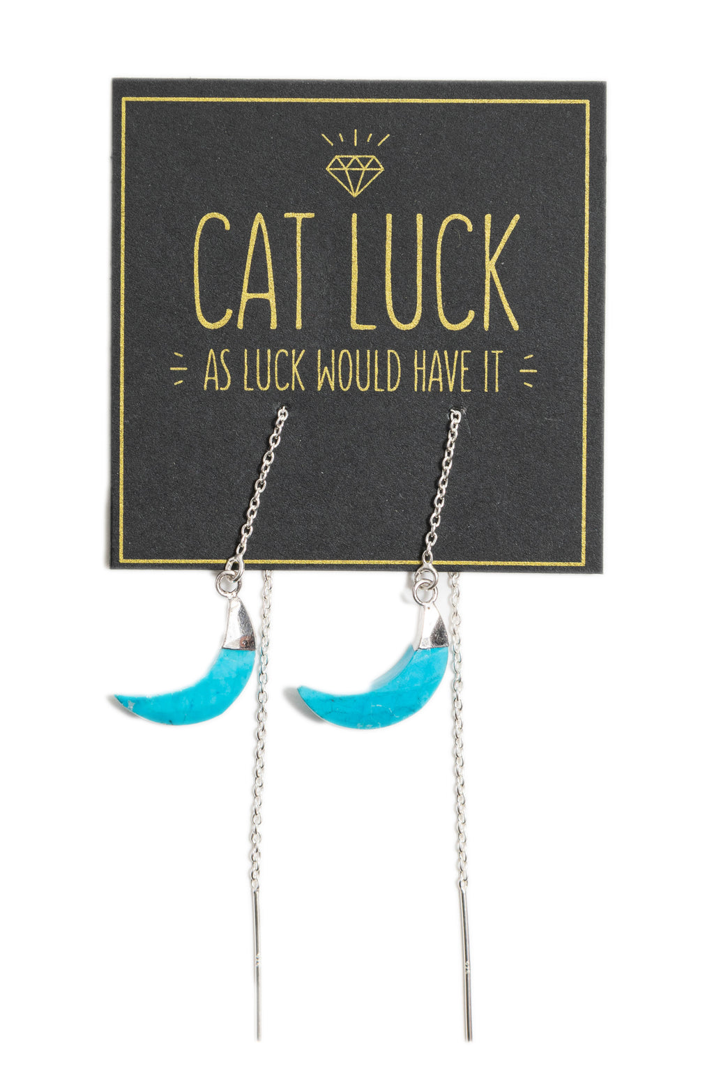 CAT LUCK Turquoise Moon Ear Threads
