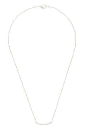 Small Silver Curve Bar Necklace
