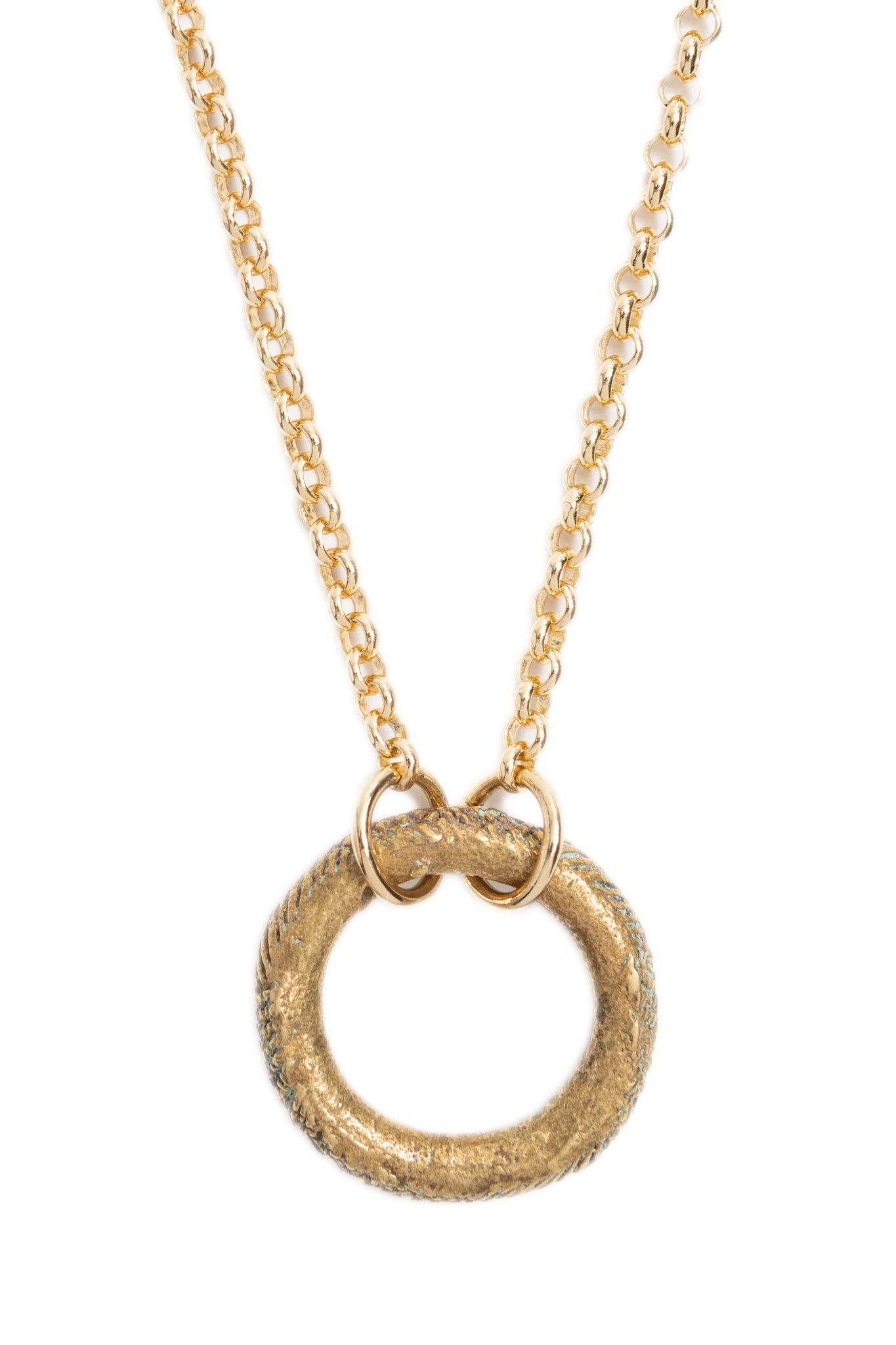 Golden Ring Choker Necklace