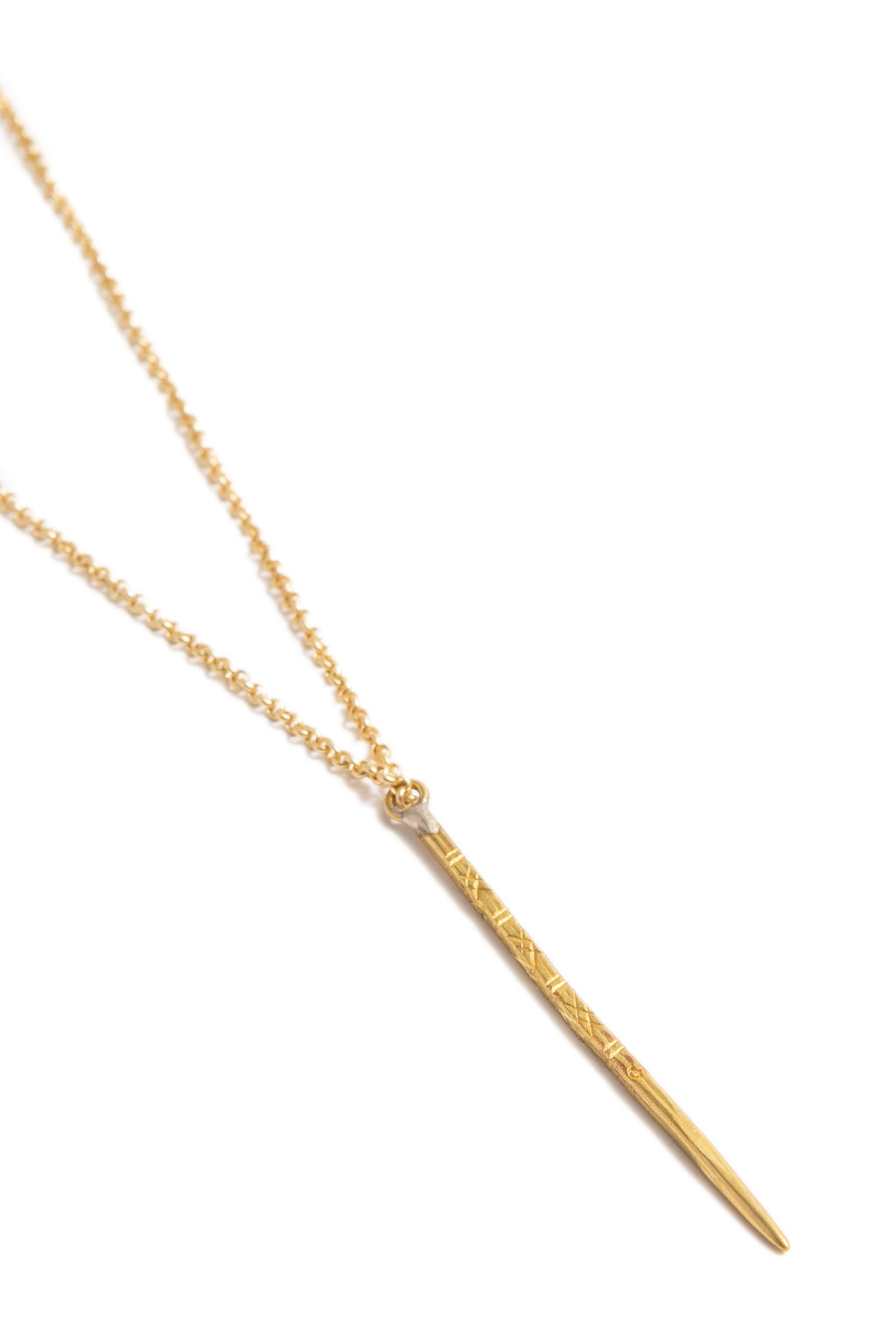Gold Detailed Spike Necklace