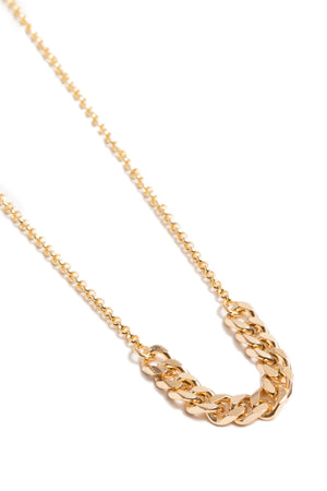 Tiny Gold Curb Chain + Rolo Chain Choker