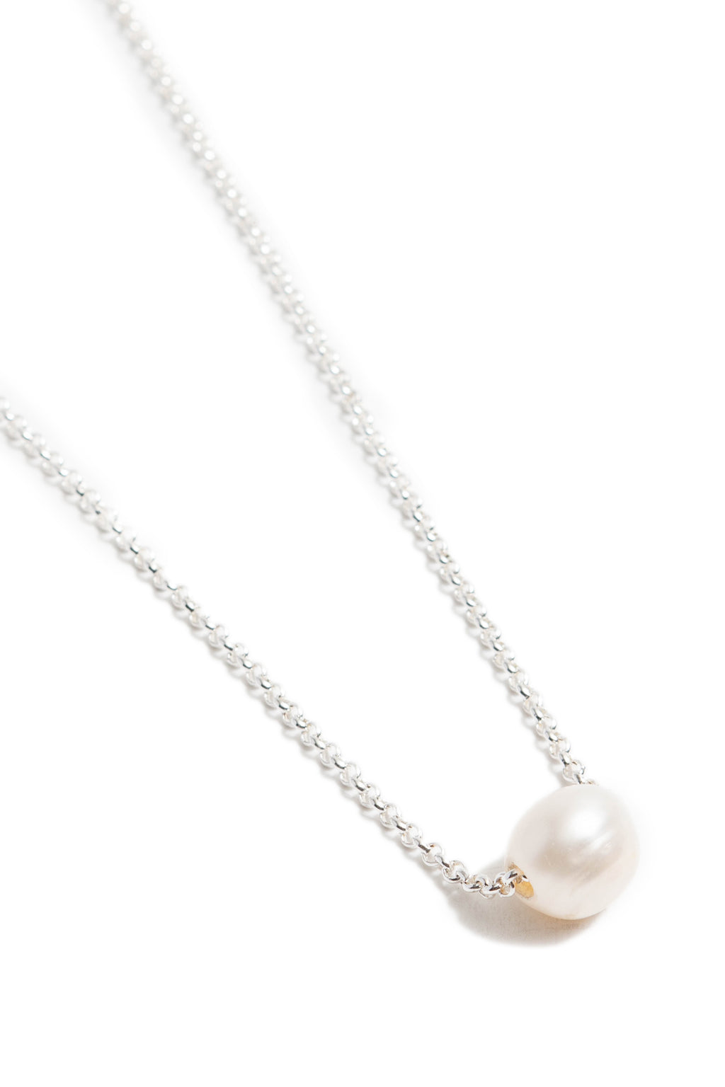 Freshwater Pearl Necklace on Silver Chain