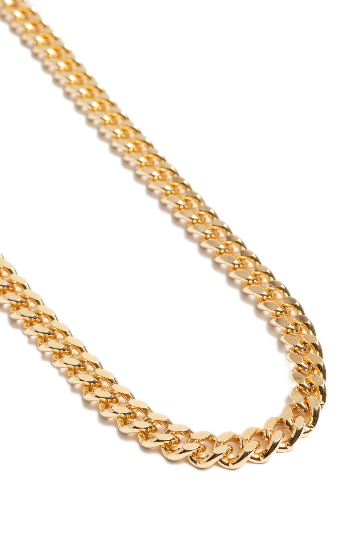 Gold Plated Curb Chain Necklace