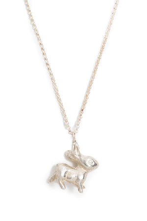 "CAT LUCK ""Some Bunny"" Sterling Silver Necklace"