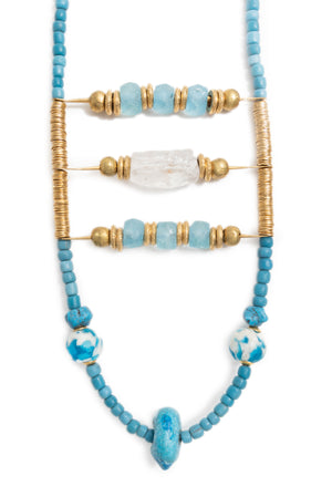 Divine God Raw Crystal Necklace
