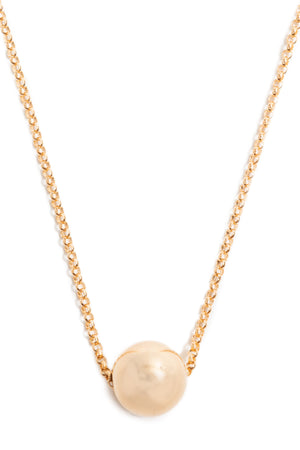 CAT LUCK Large 14K Gold Fill Orb Necklace