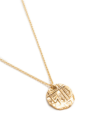 Gold Symbol Coin Necklace