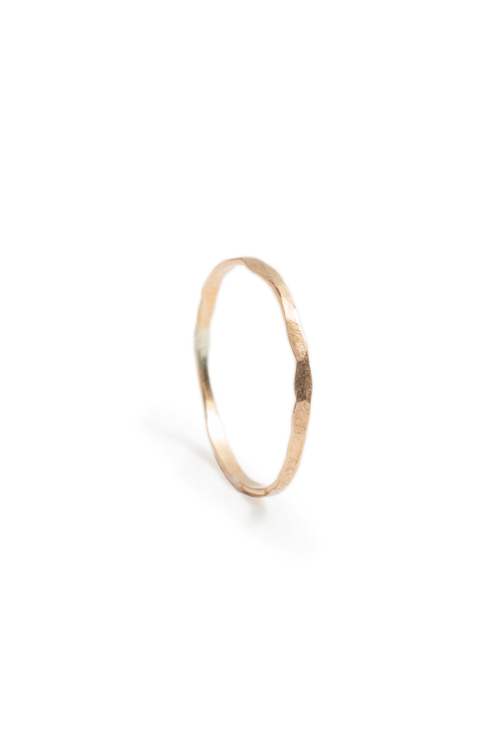 Tiny 14K Gold Fill Hammered Stacking Ring