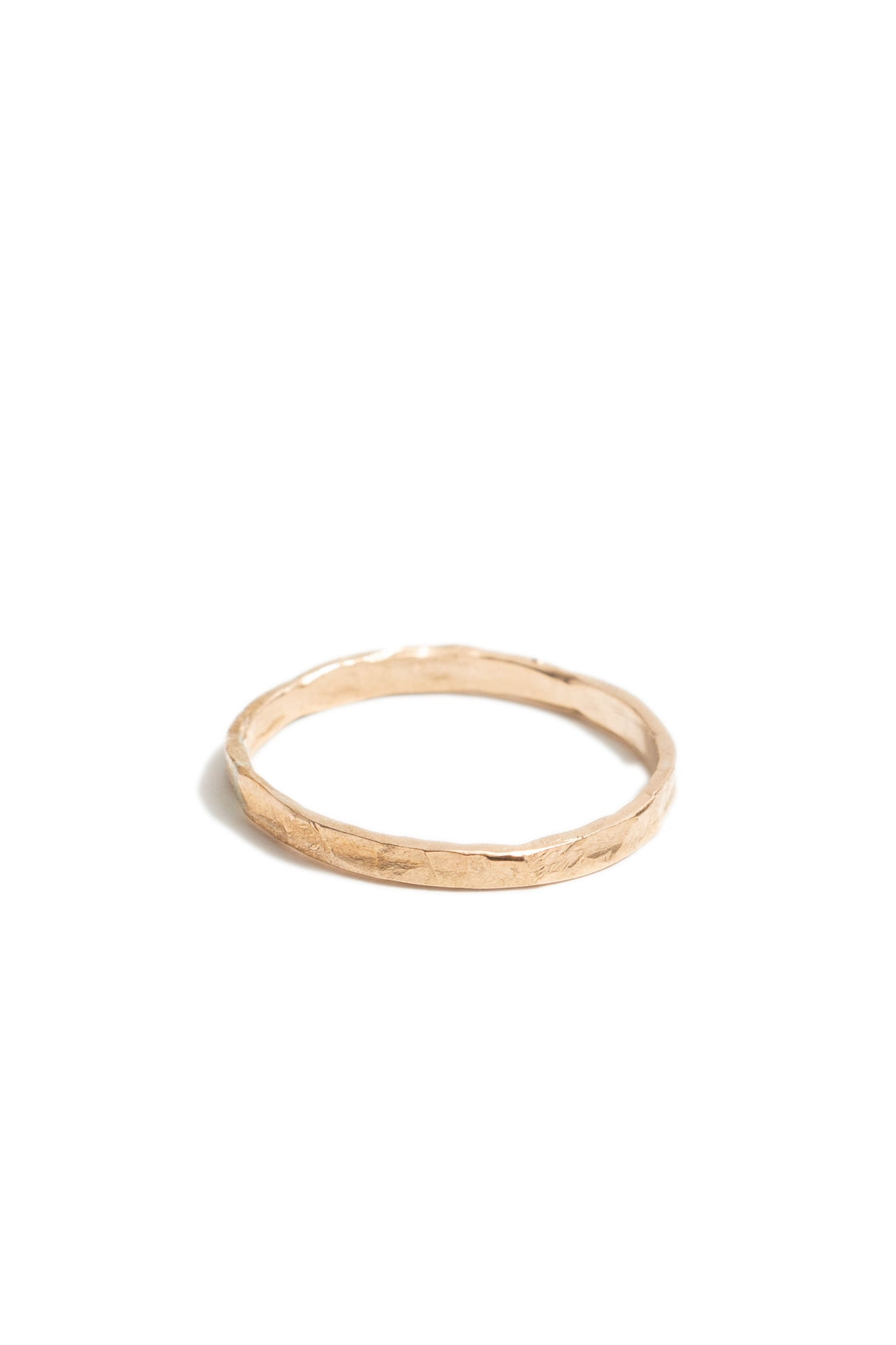 Thin 14K Gold Fill Hammered Stacking Ring