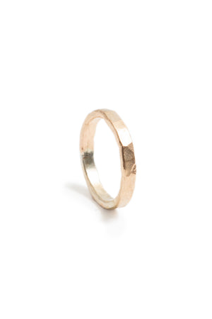 Thick 14K Gold Fill Hammered Stacking Ring