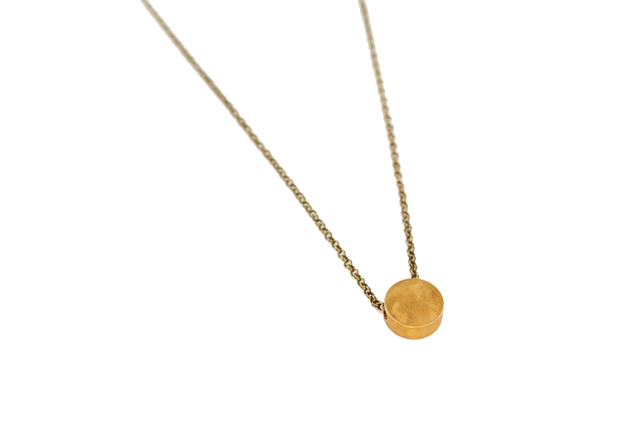 Brass Dot Necklace
