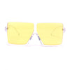 Oversize Colorful Retro Modern Classy Square Frame Aviator Sunglasses