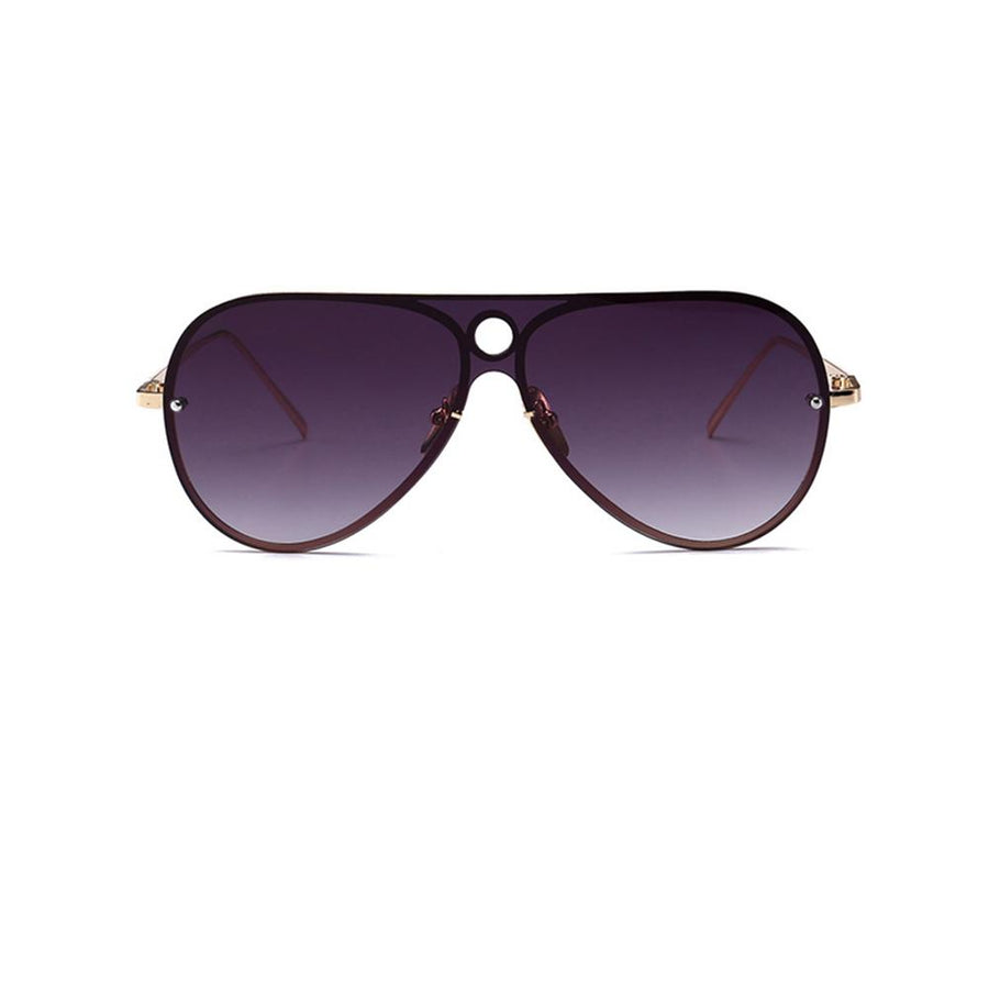 Sleek Modern Frame Colorful Lens Aviator Sunglasses