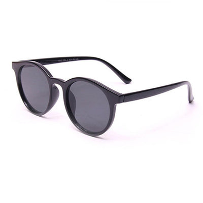 Classic Indie Vintage Horned Rim Round Cat Eye Sunglasses
