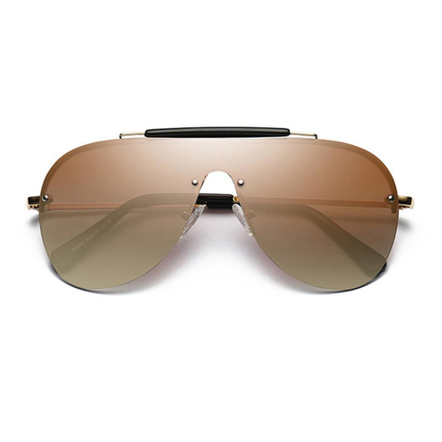 Premium Mirrored Flat Lens Aviator Sunglasses