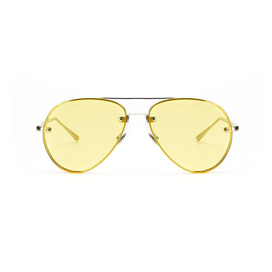 Retro Color Frame Aviator Sunglasses
