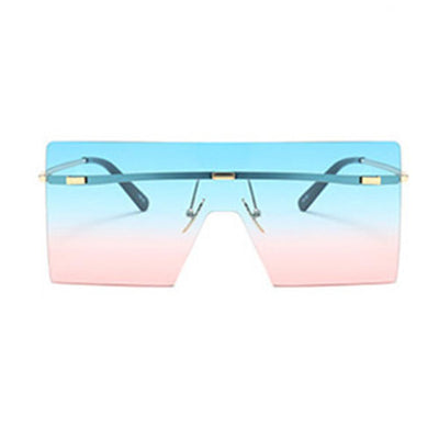 Oversize Retro Hipster Square Colorful Frame Aviator Sunglasses