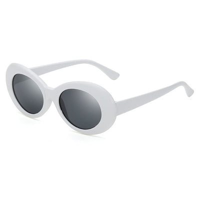 Oval Oversize Retro Frame Sunglasses