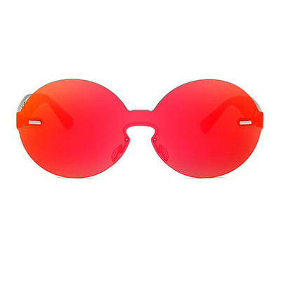 Round Rainbow Frame Laser Cut Sunglasses - Sunglasses - Red Label Eyewear - redlabeleyewear.com