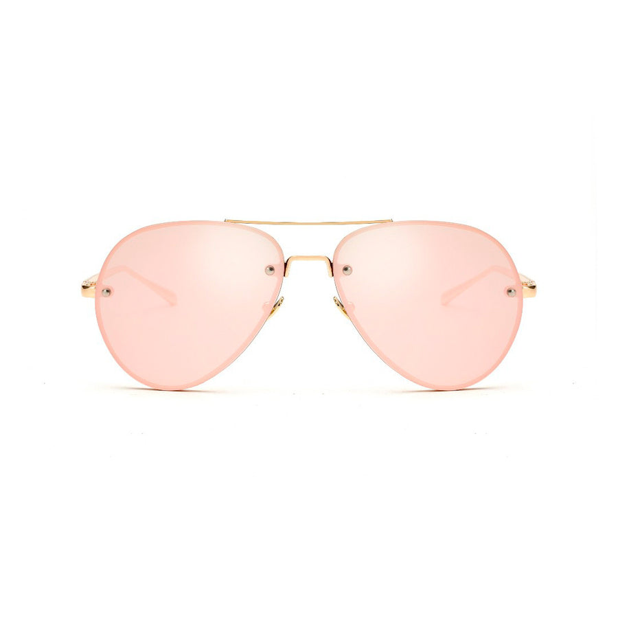 Iconic Color Frame Aviator Sunglasses