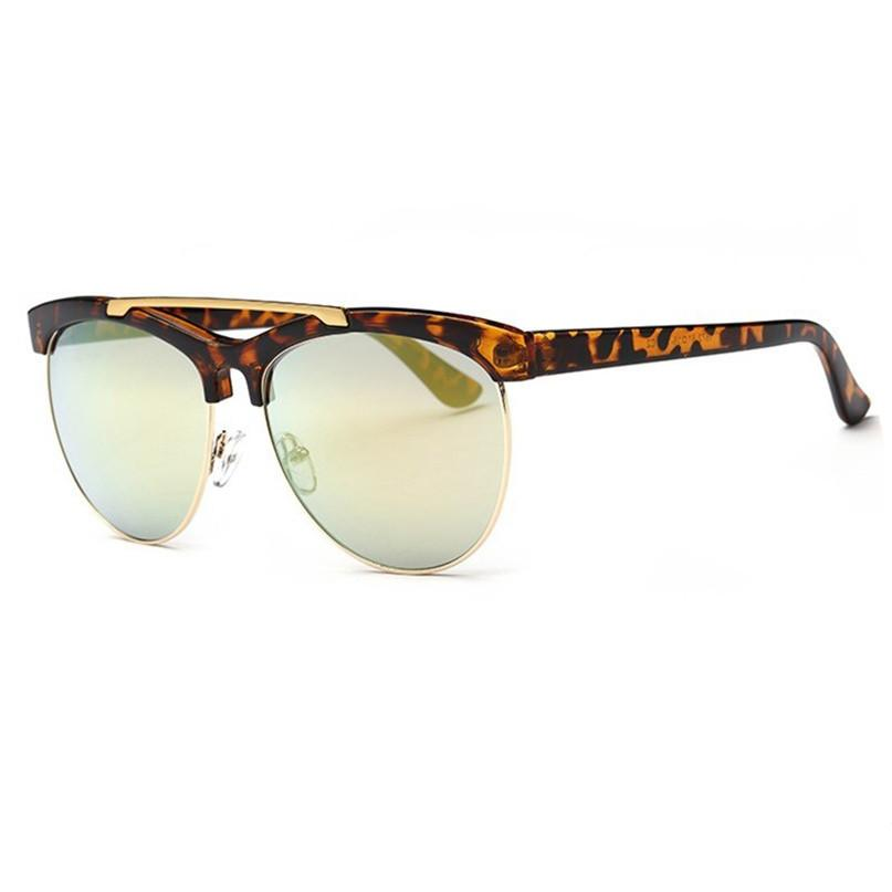 Modern Clubmaster High Bar Aviator Sunglasses
